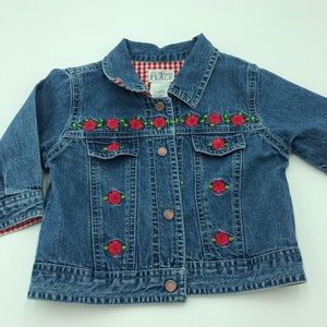 Childrens Place 12 Mo Top Shirt Red Gingham Denim